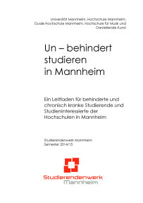 Un – behindert studieren in Mannheim