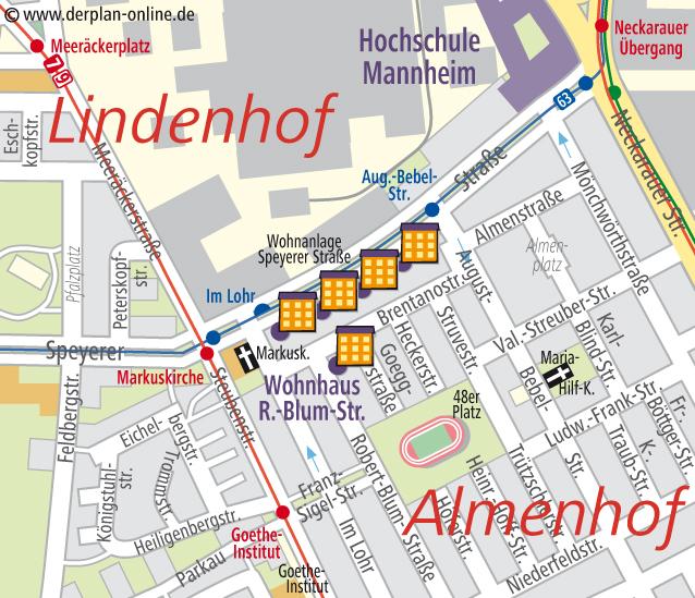 Wg Zimmer In Mannheim: Lageplan